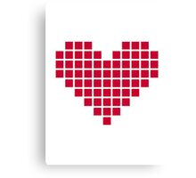Red pixel heart Canvas Print