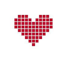 Red pixel heart Photographic Print