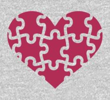 Pink heart puzzle Baby Tee