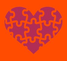 Pink heart puzzle Kids Tee