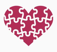 Pink heart puzzle Kids Clothes