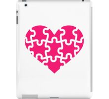 Pink heart puzzle iPad Case/Skin