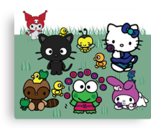 Hello Kitty and Friends Canvas Print