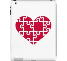 Red heart puzzle iPad Case/Skin