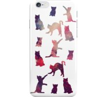 Cats chasing stars iPhone Case/Skin