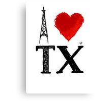 I Heart Texas (remix) by Tai's Tees Canvas Print