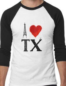 I Heart Texas (remix) by Tai's Tees Men's Baseball ¾ T-Shirt