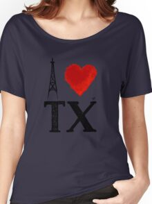 I Heart Texas (remix) by Tai's Tees Women's Relaxed Fit T-Shirt