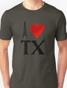 I Heart Texas (remix) by Tai's Tees Unisex T-Shirt