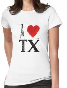 I Heart Texas (remix) by Tai's Tees Womens Fitted T-Shirt