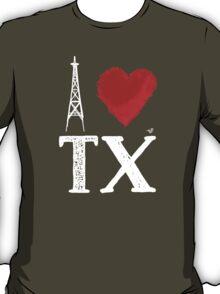 I Heart Texas (wht, remix) by Tai's Tees T-Shirt