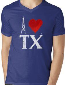 I Heart Texas (wht, remix) by Tai's Tees Mens V-Neck T-Shirt