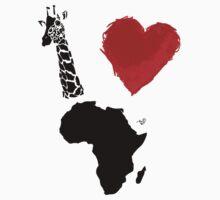 I Heart Africa (remix) by Tai's Tees Kids Tee