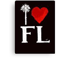 I Heart Florida (remix) by Tai's Tees Canvas Print