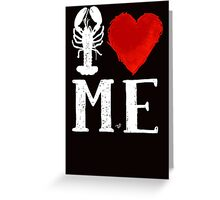 I Heart Maine (remix,wht) by Tai's Tees Greeting Card