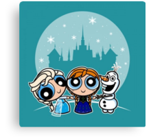 Frozen Powerpuff Girls Mash-Up Canvas Print