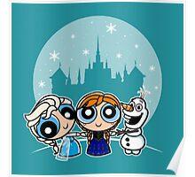 Frozen Powerpuff Girls Mash-Up Poster