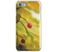 Red spot iPhone Case/Skin