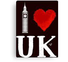 I Heart UK (remix) Canvas Print
