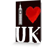I Heart UK (remix) Greeting Card