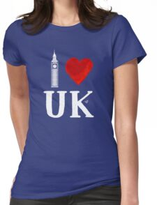 I Heart UK (remix) Womens Fitted T-Shirt