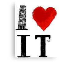 I Heart Italy (remix) Canvas Print