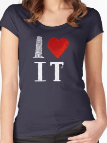 I Heart Italy (remix) Women's Fitted Scoop T-Shirt