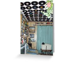 unusual lounge ceiling - yet another collection display Greeting Card