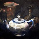 Teapot still life in oil. by matthewIaldous