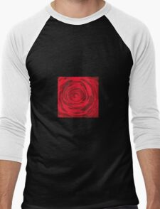 Grunge Rose Men's Baseball ¾ T-Shirt