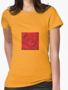 Grunge Rose Womens Fitted T-Shirt