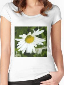 Big Chamomile 4 Women's Fitted Scoop T-Shirt