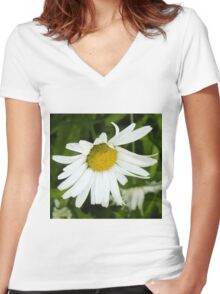 Big Chamomile 4 Women's Fitted V-Neck T-Shirt