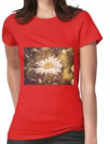 Big Chamomile Retro effect Womens Fitted T-Shirt