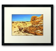 Pinnacles In The Desert - HDR Framed Print