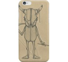 Bull Skull Guy Spirit Animal iPhone Case/Skin