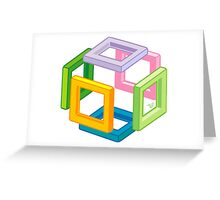 Expanding Necker Cube by Tai's Tees Greeting Card