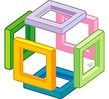 Expanding Necker Cube by Tai's Tees Photographic Print