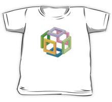 Expanding Necker Cube by Tai's Tees Kids Tee
