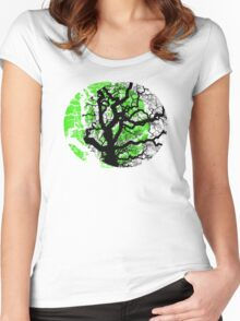 MOON TREE Women's Fitted Scoop T-Shirt