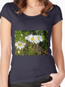 Big Chamomile 7 Women's Fitted Scoop T-Shirt