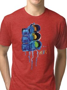 NYC Painted Traffic Light Tri-blend T-Shirt