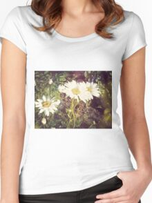 Big Chamomile Retro effect 3 Women's Fitted Scoop T-Shirt