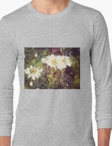 Big Chamomile Retro effect 3 Long Sleeve T-Shirt