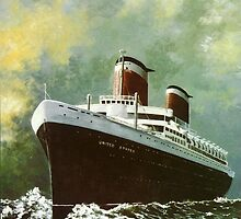 Ocean Liner United States by Kate Eller