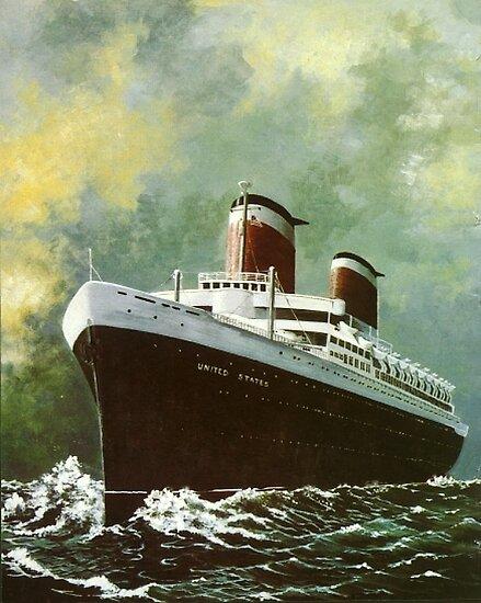 Ocean Liner United States by Kate Eller