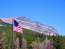 Glacier Patriotic Mountain by Tamara Valjean