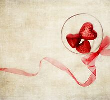 Valentine Heart and Ribbon by Rebecca Cozart