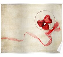 Valentine Heart and Ribbon Poster
