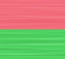 Brush Stroke Stripes: Peach, Rose, Spring Green and Steel Blue Sticker